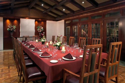 Steakhouse Wedding Reception Room